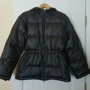 The Limited gray puffy coat.